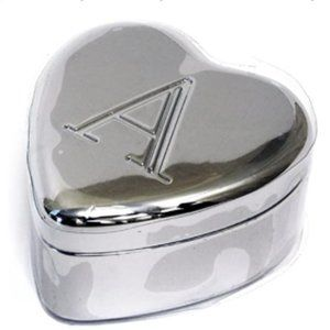 """Initially Yours Heart-Shaped Box - """"A"""""""